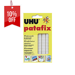 UHU PATAFIX WHITE ADHESIVE PAD - BOX OF 80