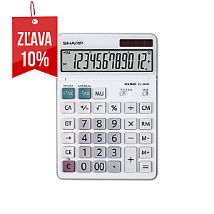 Stolová kalkulačka Sharp EL-340W, 12-miestny LCD displej