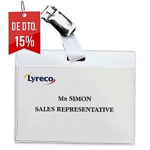 Pack de 30 identificadores Lyreco - 6 x9 cm