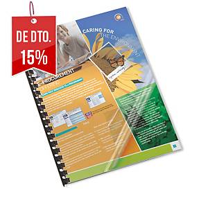 Pack de 100 capas de encadernação Lyreco - A4 - PVC  - transparente