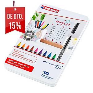 Pack 10 marcadores Edding 1200 - sortido