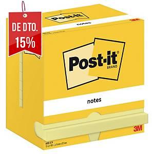Bloco 100 notas adesivas Post-it - amarelo - 76x122mm