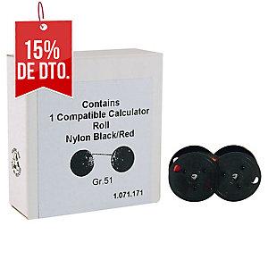 Cinta para calculadora color negro/rojo Grupo 51
