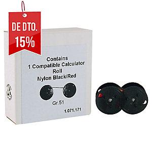 Fita para calculadora cor preto/vermelho Grupo 51
