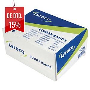 Caixa 100 g de elásticos estreitos - 200mm