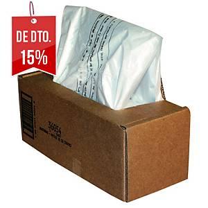 Pack de 50 sacos para destruidora de papel Fellowes - 53/75 L