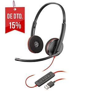 Auscultadores Plantronics Blackwire 3200 - binaural - USB-A para PC