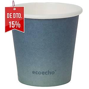 "Pack de 50 copos Duni Urban ""Eco Echo"" - papel e PLA - 80 ml - preto"