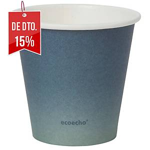 "Pack de 50 copos Duni Urban ""Eco Echo"" - papel e PLA - 180 ml - preto"