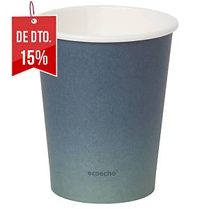 "Pack de 50 copos Duni Urban ""Eco Echo"" - papel e PLA - 240 ml - preto"