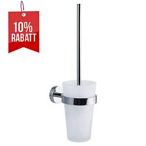 WC-Bürstenhalter Tesa Power Kit, satiniertes Glas, Metall