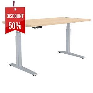 Fellowes Levado Height Adjustable Desk Maple - 1400X800mm