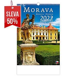 Morava - české měsíční jmenné kalendárium, 14 listů, 31,5 x 45 cm