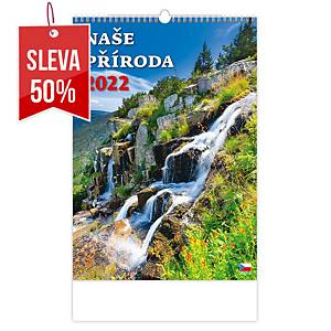 České hory - české měsíční jmenné kalendárium, 14 listů, 31,5 x 45 cm