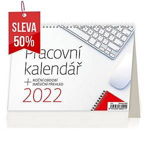 Pracovní kalendář - české týdenní sloupcové kalendárium, 54 + 2 stran
