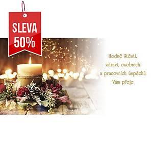 Novoroční přání Modré ozdoby, 20 x 10 cm