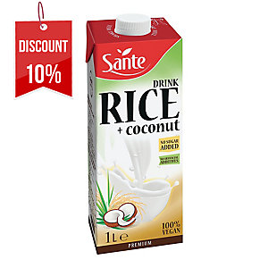 SANTE RICE COCONUT MILK NO SUGAR 1L