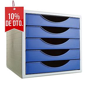 Modulo 5 cajones ARCHIVO 2000 Gris sobre Azul