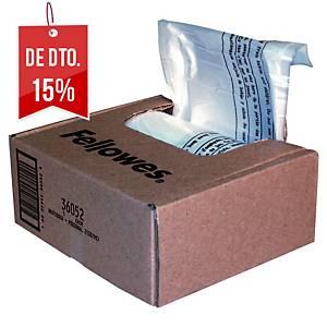 Pack de 100 sacos para destruidora de papel Fellowes - 23/28 L