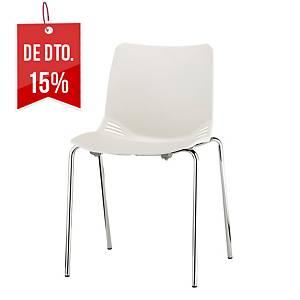Cadeira com assento de polipropileno - branco