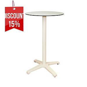OFFICE TABLE BROSS BASE 60ØX112CM WH/WH