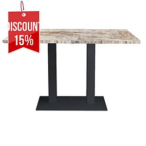 OFFI TABLE 120X70X74CM H BASE NAT PINE