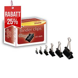 Sakota Metallklammern 41 mm schwarz, 12 Stück