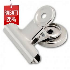 Sakota BULL DOG  Metallklammern mit Magnet 38 mm silbern