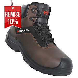 Chaussures de sécurité montantes Heckel Suxxeed Offroad S3 marron - pointure 36