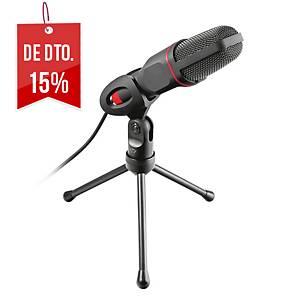 Microfone Trust GXT 212 Mico - com tripé - ligação jack 3,5 mm e - cabo de 1,8 m