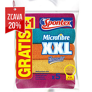 Utierka z mikrovlákna Spontex Economic XXL, 5 kusov v balení