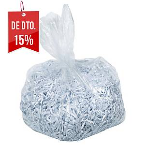 Pack de 100 sacos Rexel para destruidoras de papel - plástico - 175 L