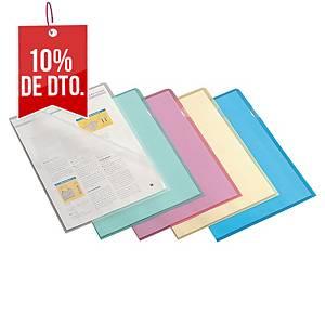 Pack de 100 dosieres uñero Lyreco - A4 - PP - 110 µ - rojo
