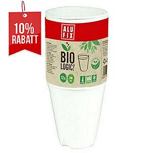 Alufix Biologic Becher,  260 ml, 12 Stück