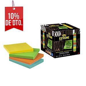 Pack de 12 block de notas adhesivas Post-it Extreme  - surtidos - 76 x 76 mm