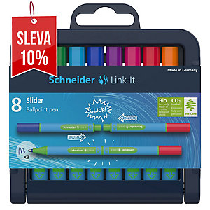 Sada Schneider Link-It Slider, 8 ks pero, mix barev