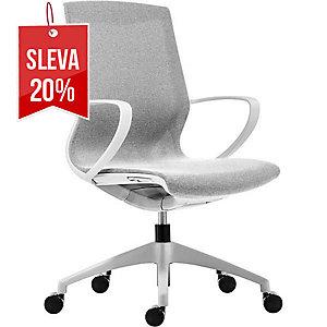 Antares Vision kancelářská židle slonovinová & bílá