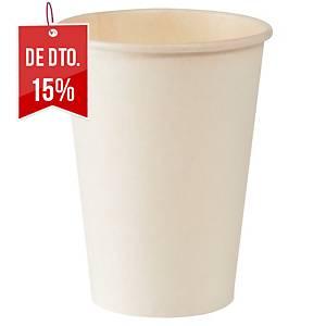 Pack de 50 copos Duni - papel - 21 cl - Branco
