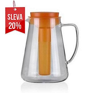 Tescoma džbán s luhováním a chlazením, Teo, sklo, 2.5 l, oranžový