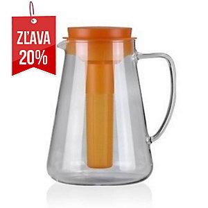 Tescoma džbán s lúhovaním a chladením, Teo, sklo, 2.5 l, oranžový