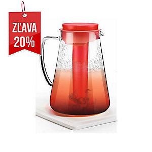 Tescoma džbán s lúhovaním a chladením, Teo, sklo, 2.5 l, červený