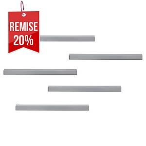 Rail d affichage Durable Durafix - 210 x 17 mm - argent - paquet de 5