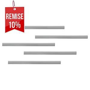 Rail d affichage Durable Durafix - 297 x 17 mm - argent - paquet de 5
