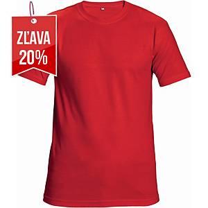 Tričko s krátkym rukávom Cerva Teesta, veľkosť L, červené