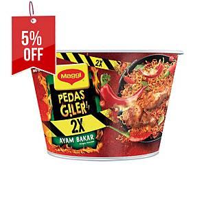 Maggi Pedas Giler Ayam Bakar 2X Bowl Noodles 99g