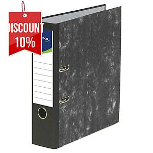 Lyreco Budget Lever Arch File A4 75mm Slotted Black Cloud