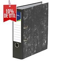 Archivador de palanca Lyreco Premium - A4 - lomo 80 mm - negro jaspeado