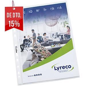 Pack de 100 micas Lyreco Budget - A4 - PP - 55 µ