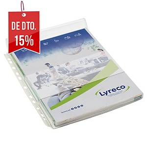Pack de 5 micas Lyreco - com aba - PVC - 200 µ