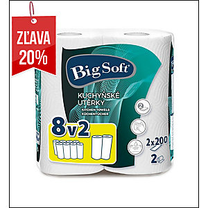 Pk2X200 Big Soft papierové utierky 2 vrstvové